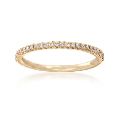 Henri Daussi .15 ct. t.w. Diamond Wedding Band in 18kt Yellow Gold