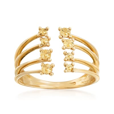 Italian 14kt Yellow Gold Open-Space Ring