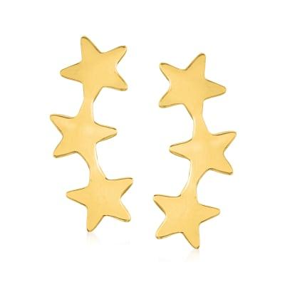 14kt Yellow Gold Multi-Star Earrings