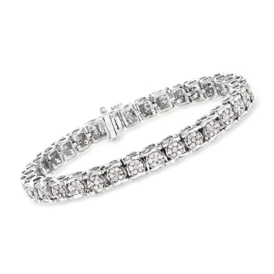 3.00 ct. t.w. Diamond Tennis Bracelet in Sterling Silver