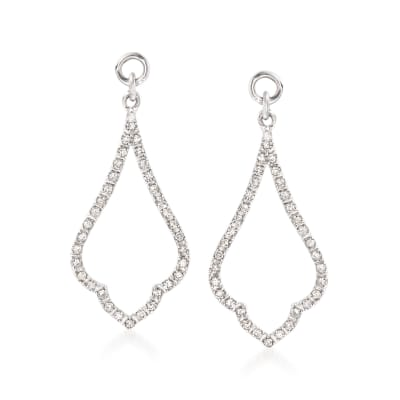 .25 ct. t.w. Diamond Open Drop Earring Jackets in Sterling Silver