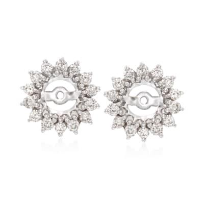 .99 ct. t.w. Diamond Earring Jackets in 14kt White Gold