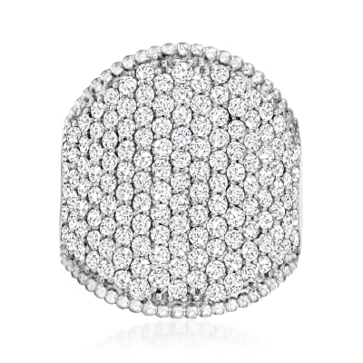 3.00 ct. t.w. Pave Diamond Ring in Sterling Silver