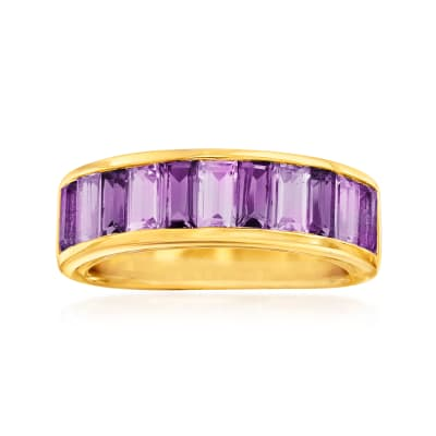 2.00 ct. t.w. Amethyst Ring in 18kt Gold Over Sterling