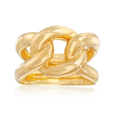 Italian Andiamo 14kt Yellow Gold Over Resin Knot Ring