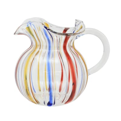 "Vietri ""Carnevale"" Three-Spout Pitcher from Italy"