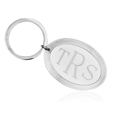 Sterling Silver  Engravable Key Chain
