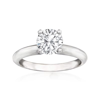 1.21 Carat Certified Diamond Ring in 14kt White Gold