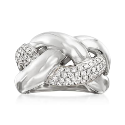 .63 ct. t.w. Diamond Braided Ring in 14kt Whit Gold
