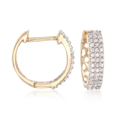.25 ct. t.w. Diamond Huggie Hoop Earrings in 14kt Yellow Gold