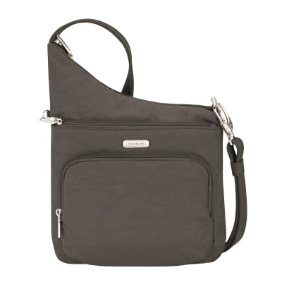 Anti-Theft Essential North-South Brown Crossbody Bag