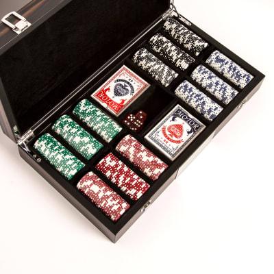"""Brouk & Co. """"Matte Ebony"""" 300-Chip Poker Set"""