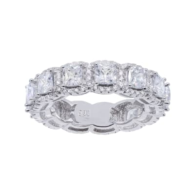 3.95 ct. t.w. CZ Eternity Band in Sterling Silver