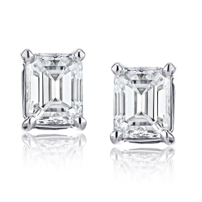 1.40 ct. t.w. Certified Diamond Stud Earrings in Platinum