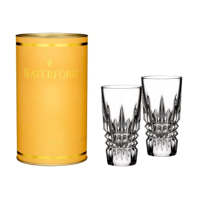 "Waterford Crystal ""Giftology"" Set of Two Lismore Diamond Shot Glasses"