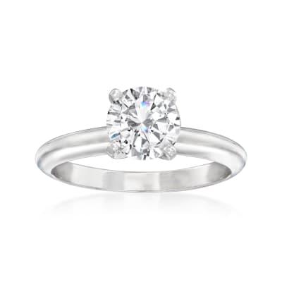 1.16 Carat Certified Diamond Solitaire Ring in Platinum