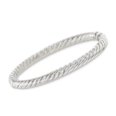 Sterling Silver Twisted Bangle Bracelet