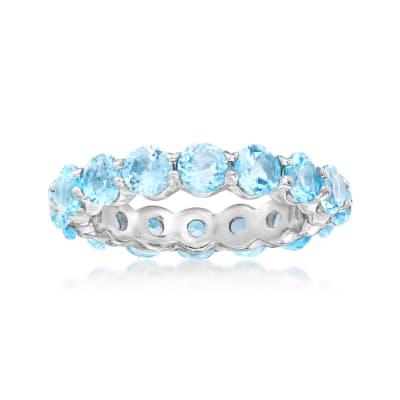 4.50 ct. t.w. Blue Topaz Eternity Ring in Sterling Silver