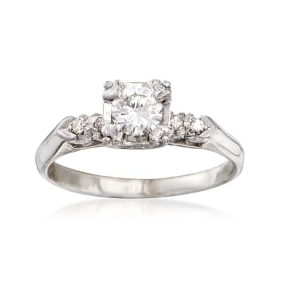C. 2000 Vintage .58 ct. t.w. Diamond Ring in 14kt White Gold
