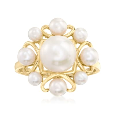 3-8.5mm Cultured Pearl Ring in 14kt Yellow Gold
