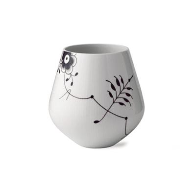 """Royal Copenhagen """"Black Fluted Mega"""" Large Porcelain Vase"""