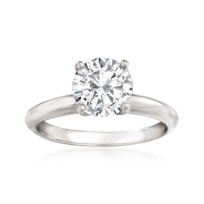 1.70 Carat Certified Diamond Engagement Ring in 14kt White Gold