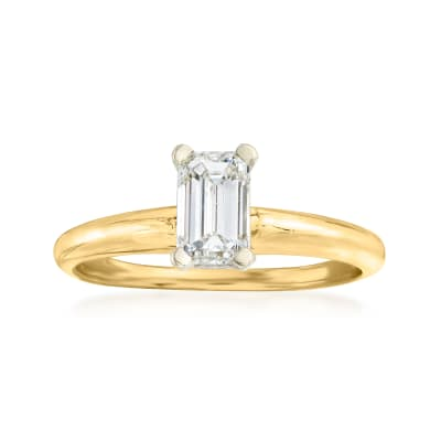 C. 1990 Vintage .65 Carat Diamond Ring in 14kt Yellow Gold