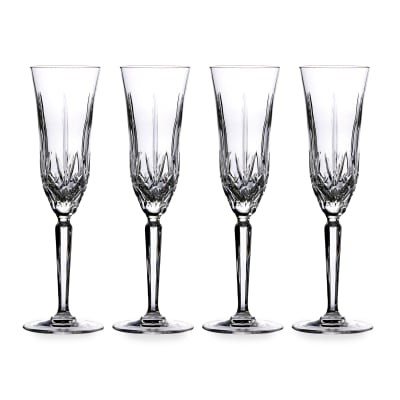 """Marquis by Waterford Crystal """"Maxwell"""" Set of 4 Flute Glasses from Italy"""
