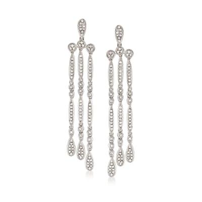 .65 ct. t.w. Diamond Multi-Drop Earrings in 14kt White Gold