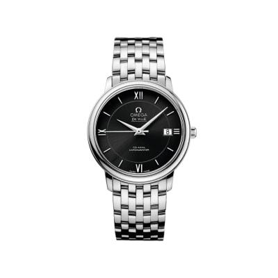 Omega De Ville Prestige Men's 36.8mm Stainless Steel Watch with Black Dial