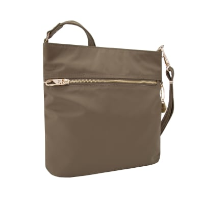 "Travelon ""Anti-Theft Tailored"" Sable Nylon Twill North/South Slim Bag"