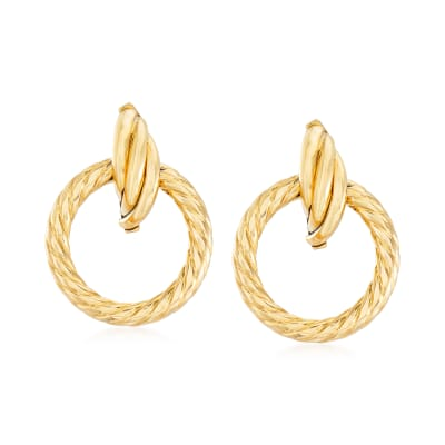 Italian 14kt Yellow Gold Open-Circle Earrings