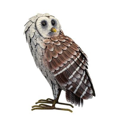 Regal Barn Owl Garden Statue