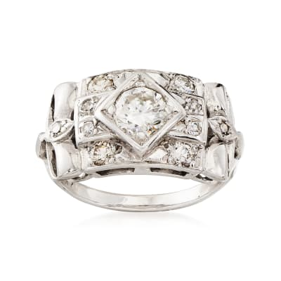 C. 1960 1.10 ct. t.w. Diamond Ring in 14kt White Gold