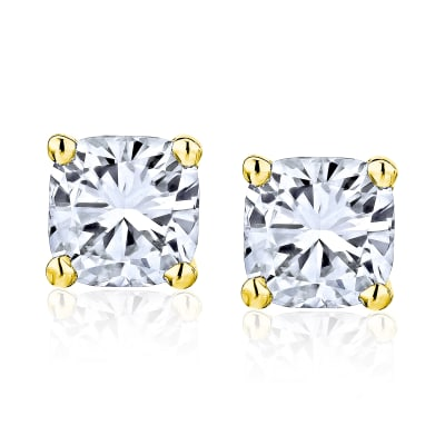 .95 ct. t.w. Diamond Stud Earrings in 14kt Yellow Gold