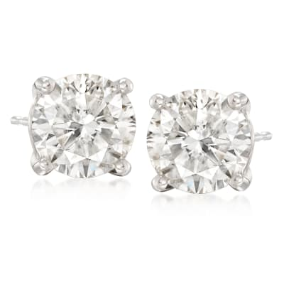 8.00 ct. t.w. CZ Stud Earrings in 14kt White Gold