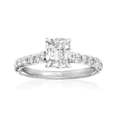Henri Daussi 1.49 ct. t.w. Certified Diamond Engagement Ring in 18kt White Gold