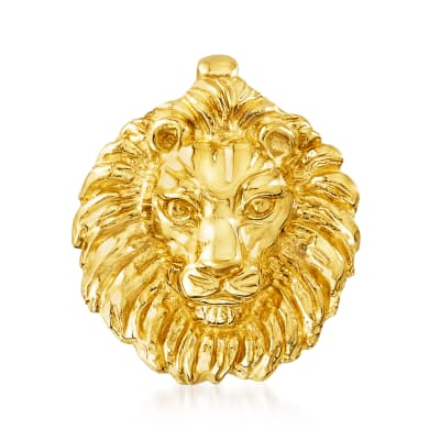 Italian 14kt Yellow Gold Lion Slide Pendant