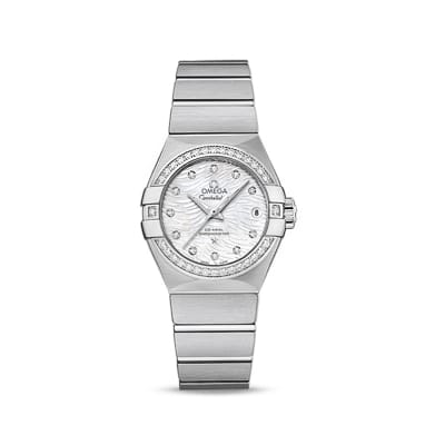 Omega Constellation Women's 27mm Automatic Stainless Steel and Diamond Watch