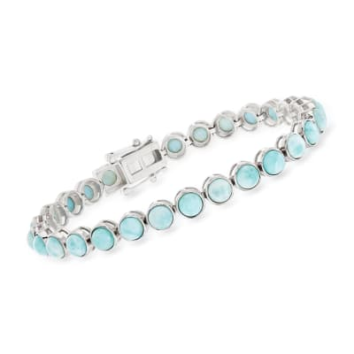 5mm Larimar Tennis Bracelet in Sterling Silver
