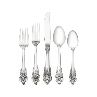 """Wallace """"Grande Baroque"""" Sterling Silver Dinner Setting"""