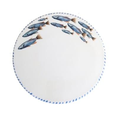 "Abbiamo Tutto ""School of Fish"" Ceramic Trivet/Cheeseboard from Italy"