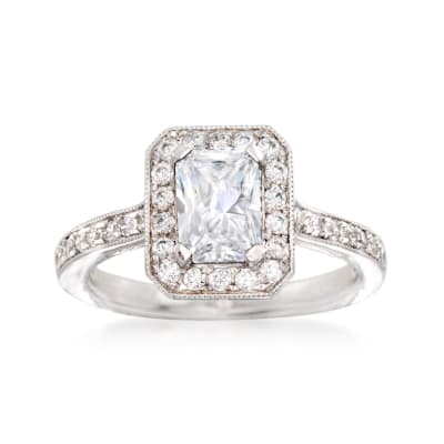 Gabriel Designs .52 ct. t.w. Diamond Engagement Ring Setting in 14kt White Gold