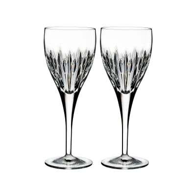 "Waterford Crystal ""Ardan"" Set of Two Mara Wine Glasses"