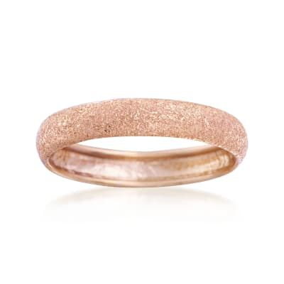 Italian 14kt Rose Gold Textured Ring