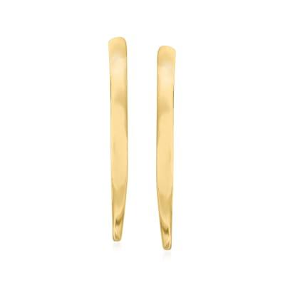 14kt Yellow Gold Open-Teardrop Earrings