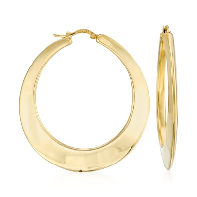 Italian 14kt Yellow Gold Hoop Earrings
