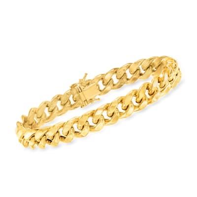 14kt Yellow Gold 10.5mm Cuban-Link Bracelet