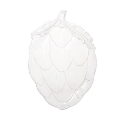 "Vietri ""Artichoke"" White Figural Platter from Italy"