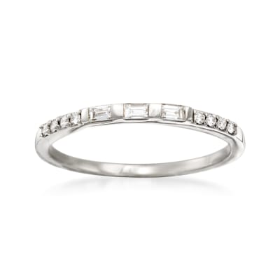 .16 ct. t.w. Baguette and Round Diamond Ring in 14kt White Gold